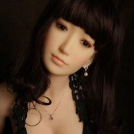 Sex Doll Head - #16 with Long Brown Hair - My Silicone Love Doll